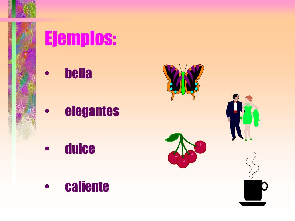 Ejemplos: bella elegantes dulce caliente
