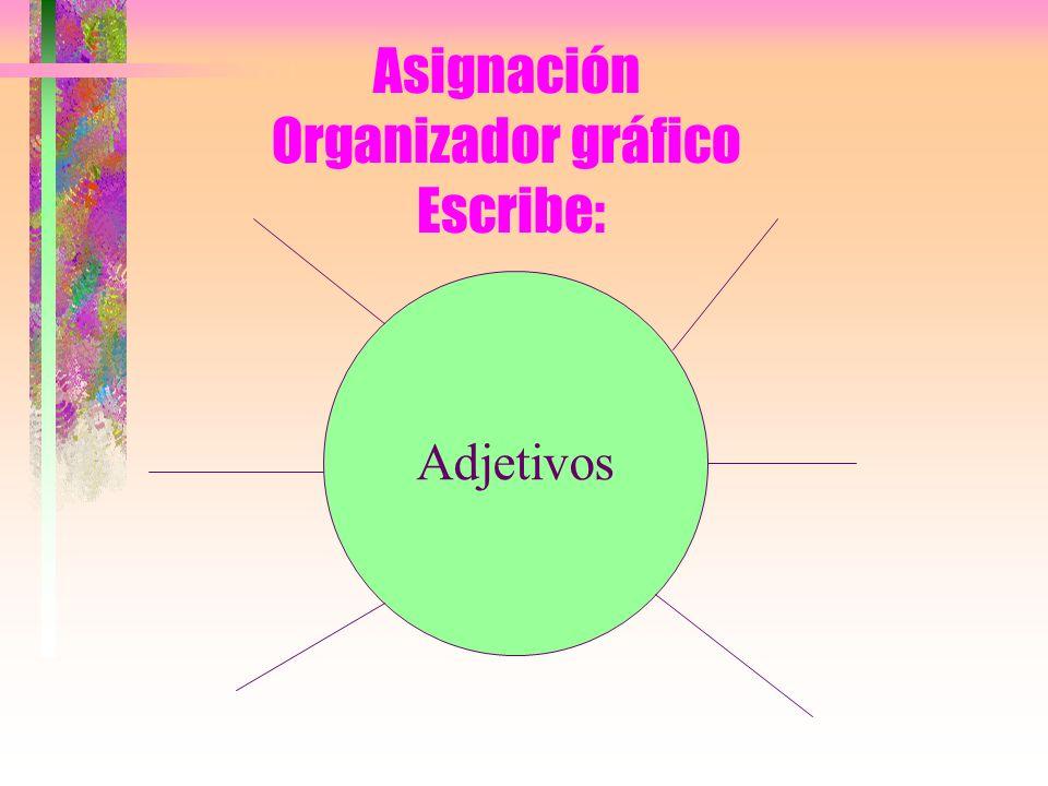 Asignación Organizador gráfico Escribe: