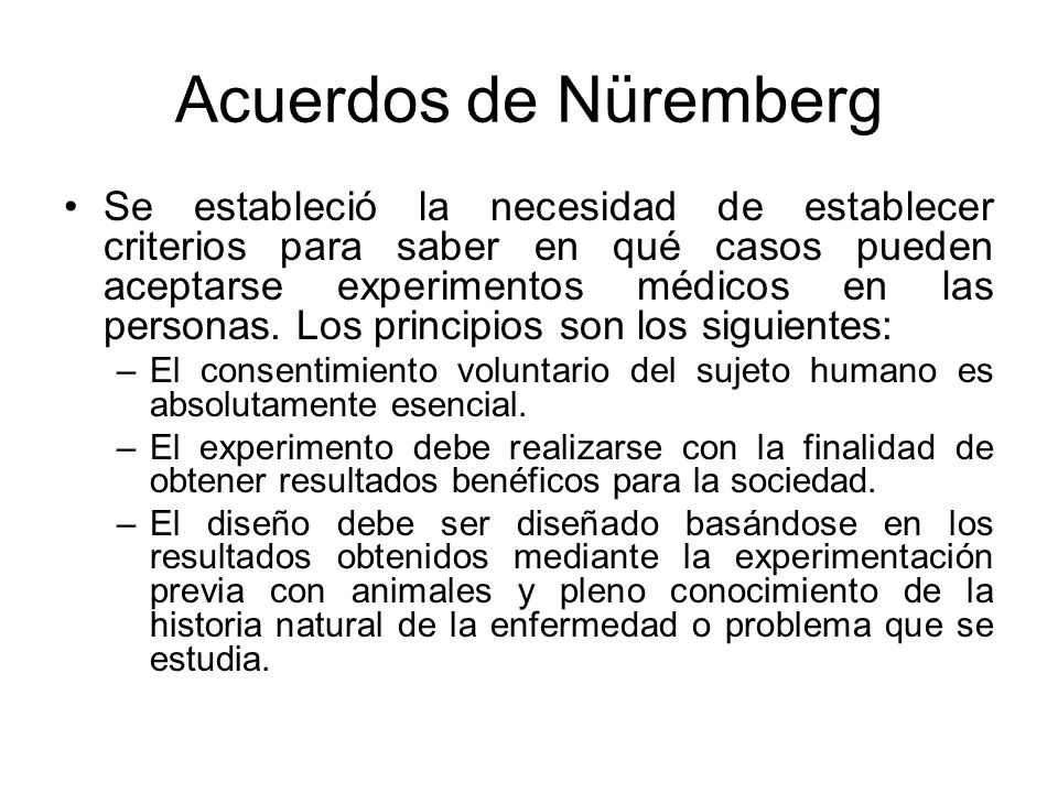 Acuerdos de Nüremberg