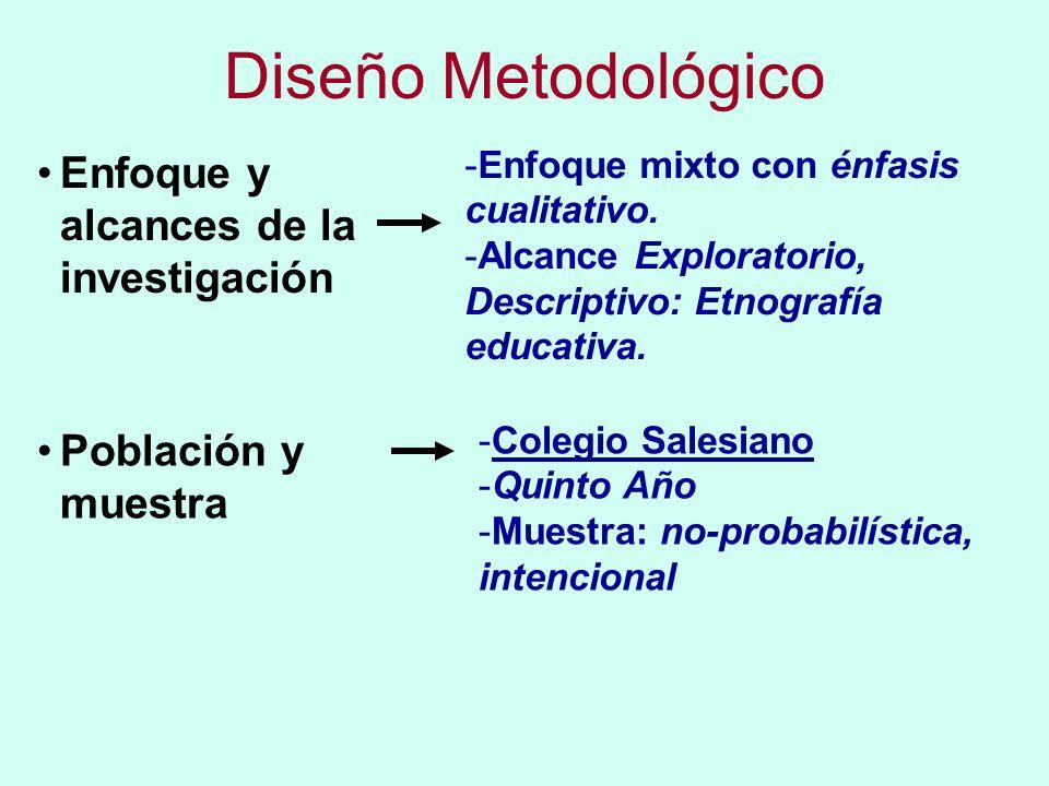 Diseño Metodológico Enfoque y alcances de la investigación