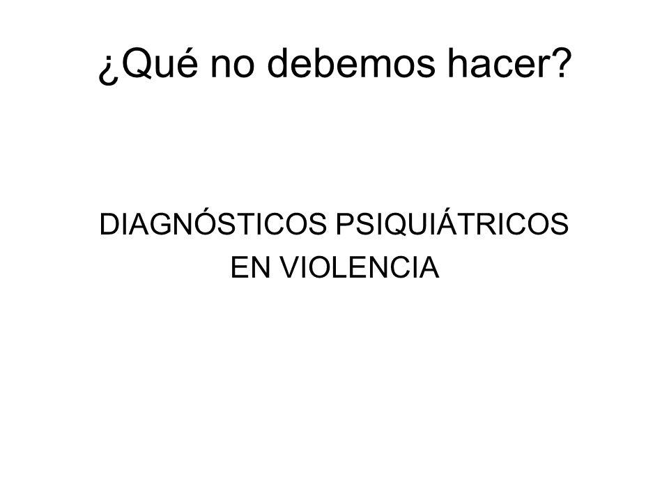 DIAGNÓSTICOS PSIQUIÁTRICOS