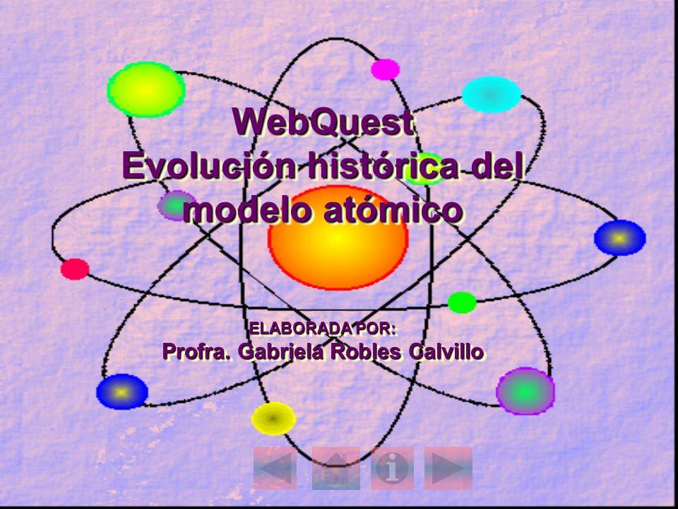 WebQuest Evolución histórica del modelo atómico ELABORADA POR: Profra
