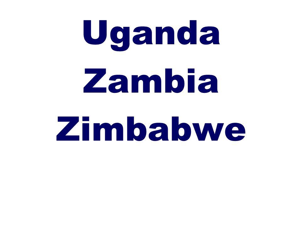 Uganda Zambia Zimbabwe