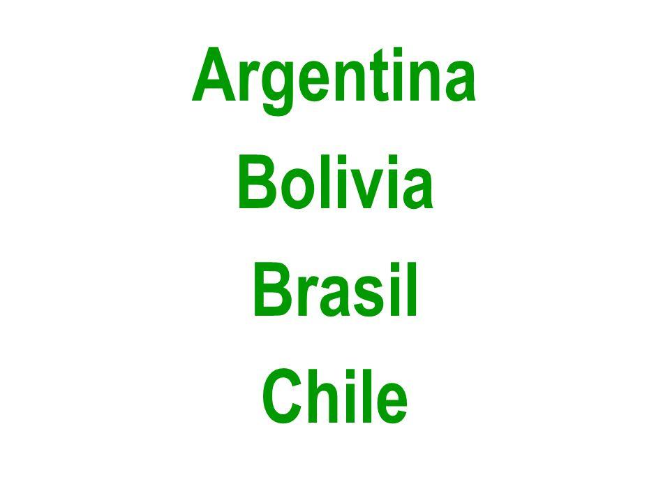 Argentina Bolivia Brasil Chile