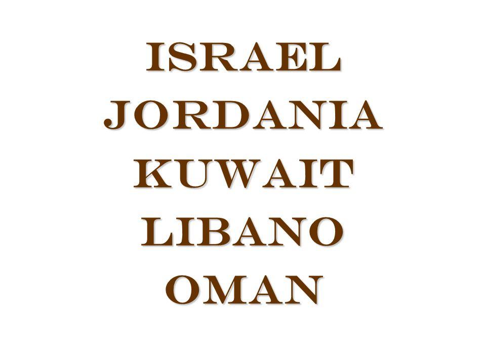 Israel Jordania Kuwait Libano Oman