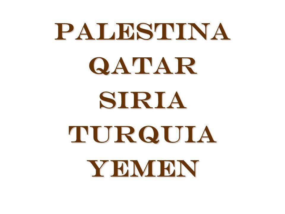 Palestina Qatar Siria Turquia Yemen