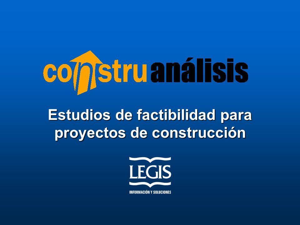 Estudios De Factibilidad Para Proyectos De Construcci N
