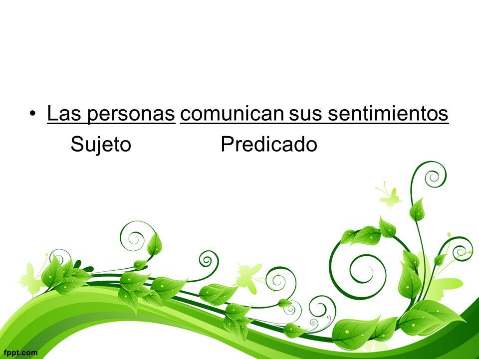 Las personas comunican sus sentimientos