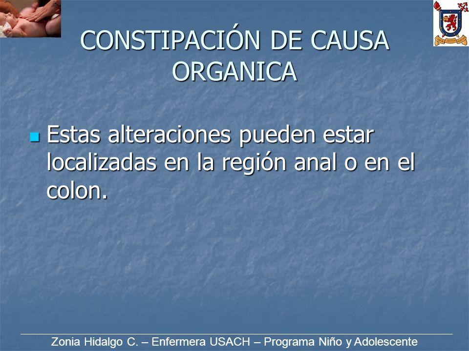 CONSTIPACIÓN DE CAUSA ORGANICA