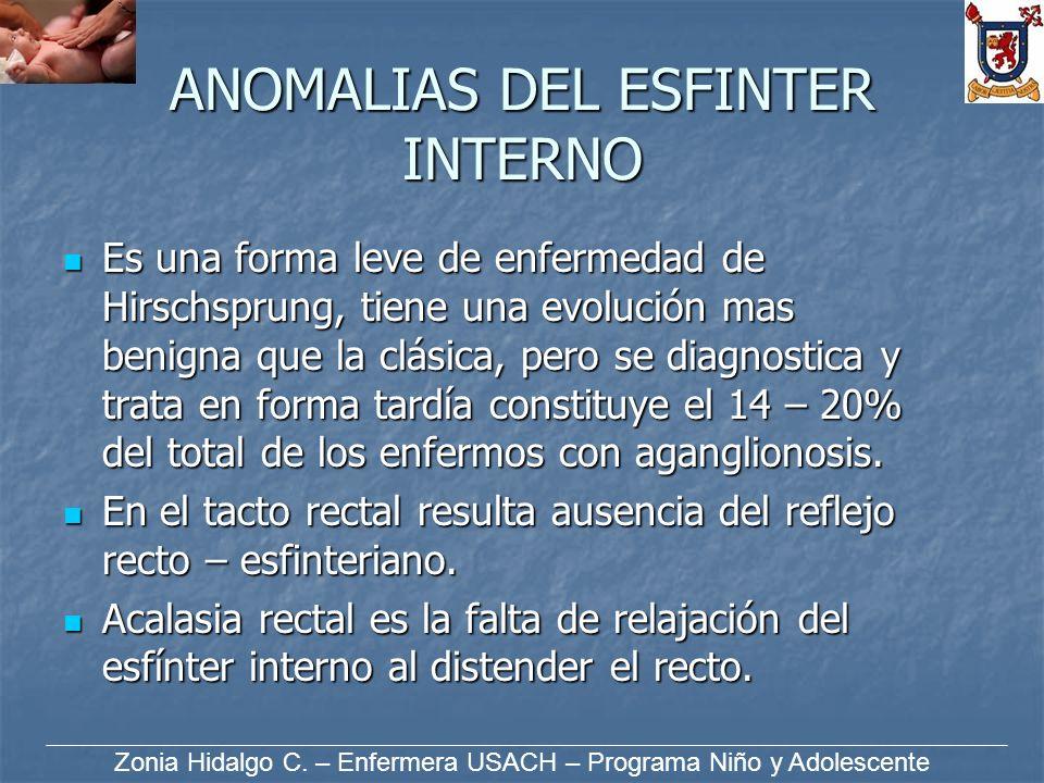 ANOMALIAS DEL ESFINTER INTERNO