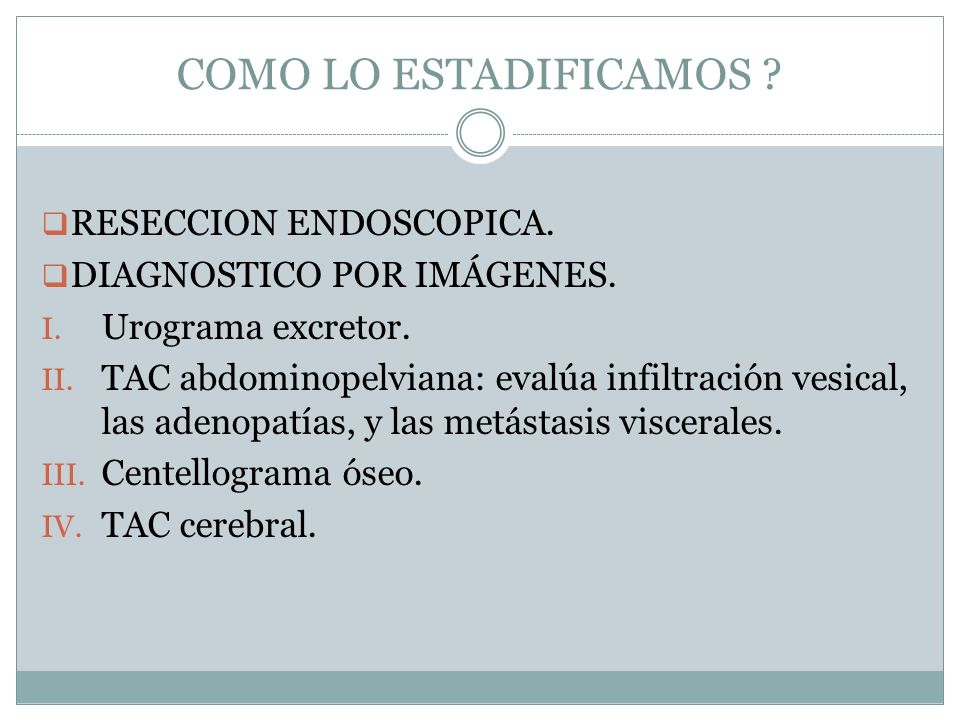 COMO LO ESTADIFICAMOS RESECCION ENDOSCOPICA.