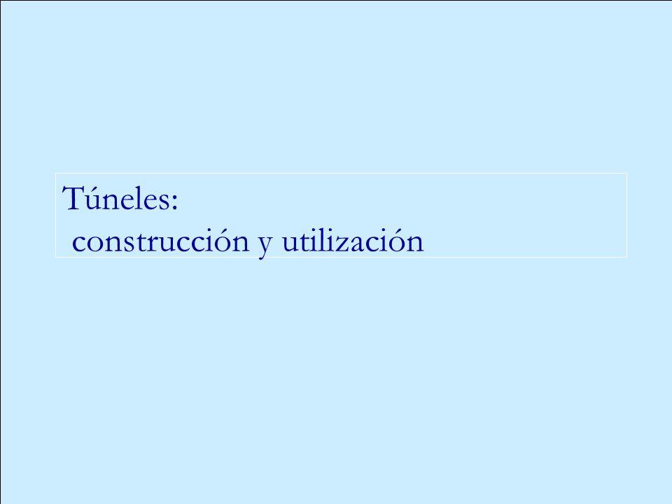Túneles: construcción y utilización