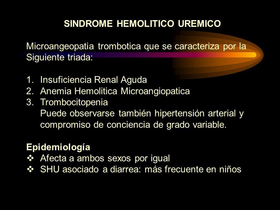 SINDROME HEMOLITICO UREMICO