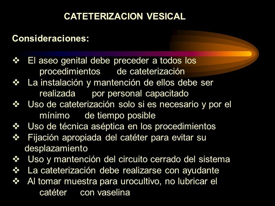 CATETERIZACION VESICAL