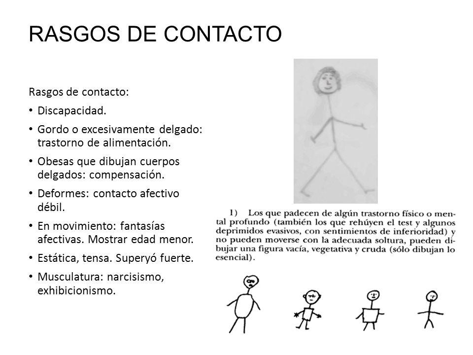 RASGOS DE CONTACTO Rasgos de contacto: Discapacidad.