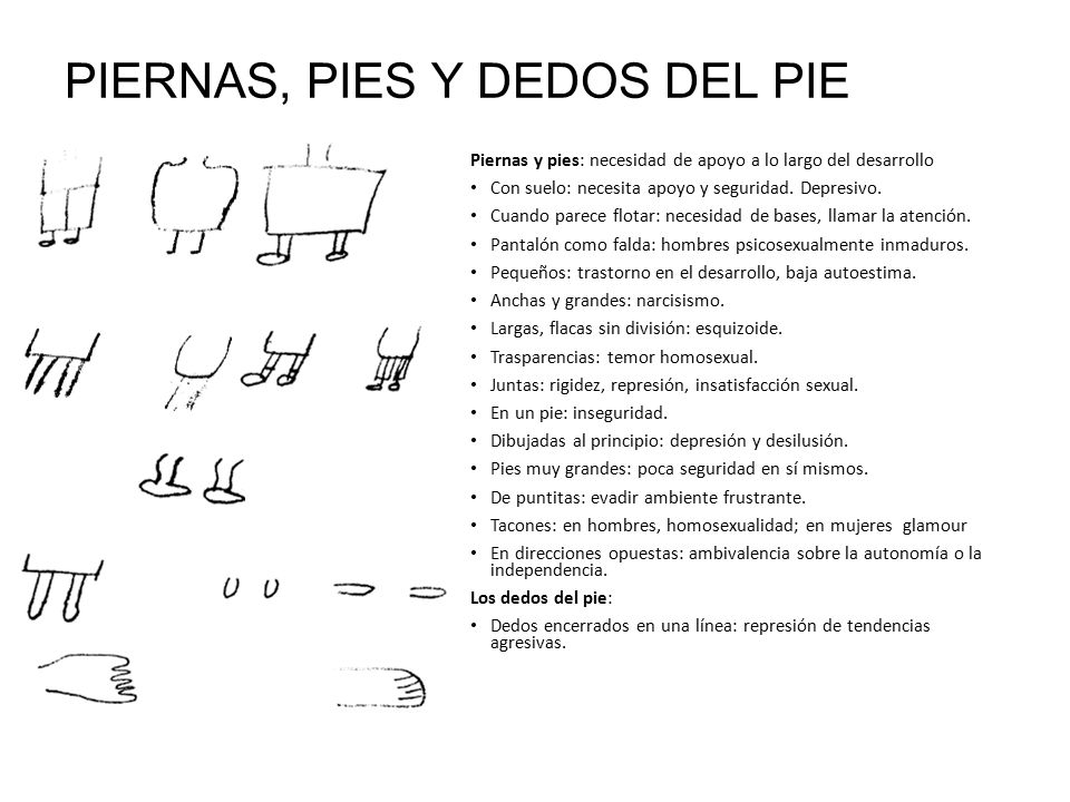 PIERNAS, PIES Y DEDOS DEL PIE