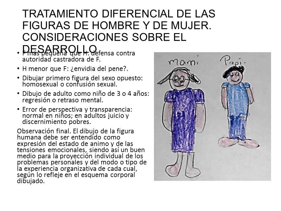 TRATAMIENTO DIFERENCIAL DE LAS FIGURAS DE HOMBRE Y DE MUJER