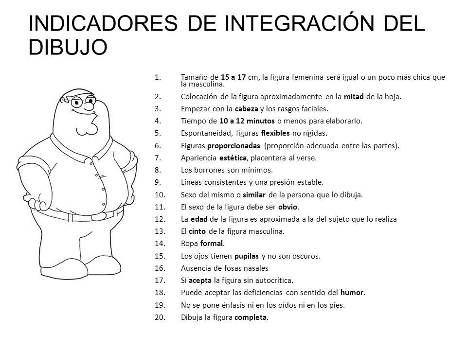 INDICADORES DE INTEGRACIÓN DEL DIBUJO
