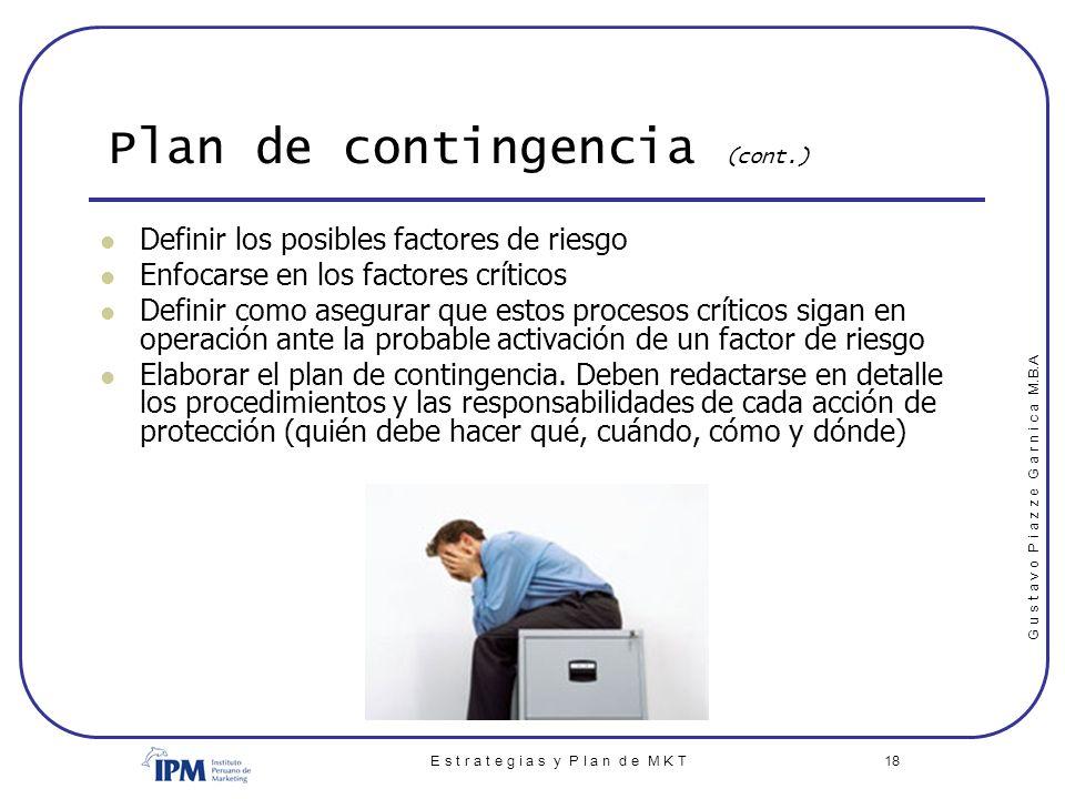 Plan de contingencia (cont.)