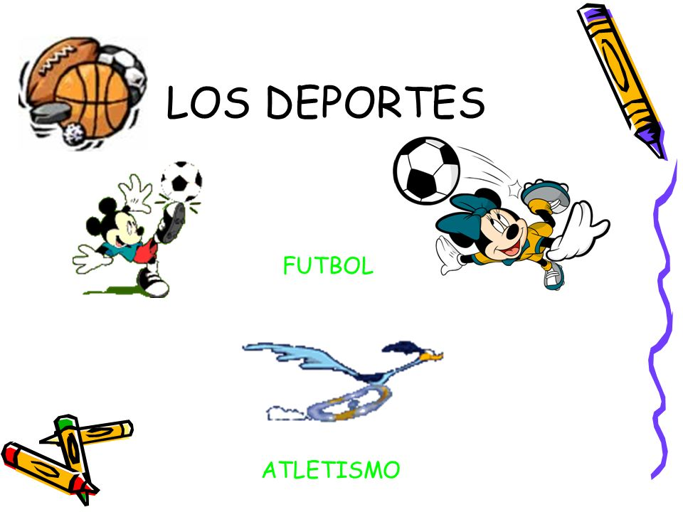 LOS DEPORTES FUTBOL ATLETISMO