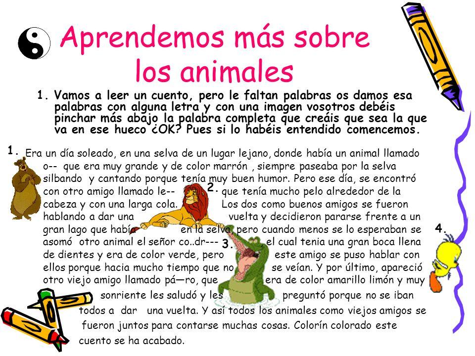 Aprendemos más sobre los animales