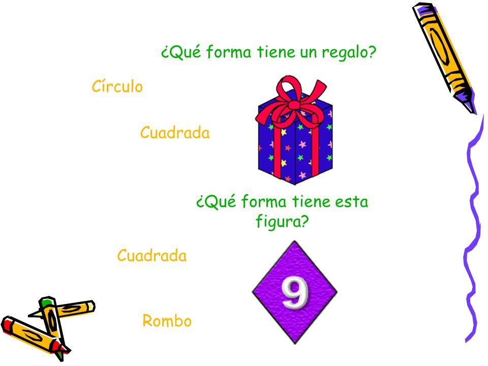 ¿Qué forma tiene un regalo