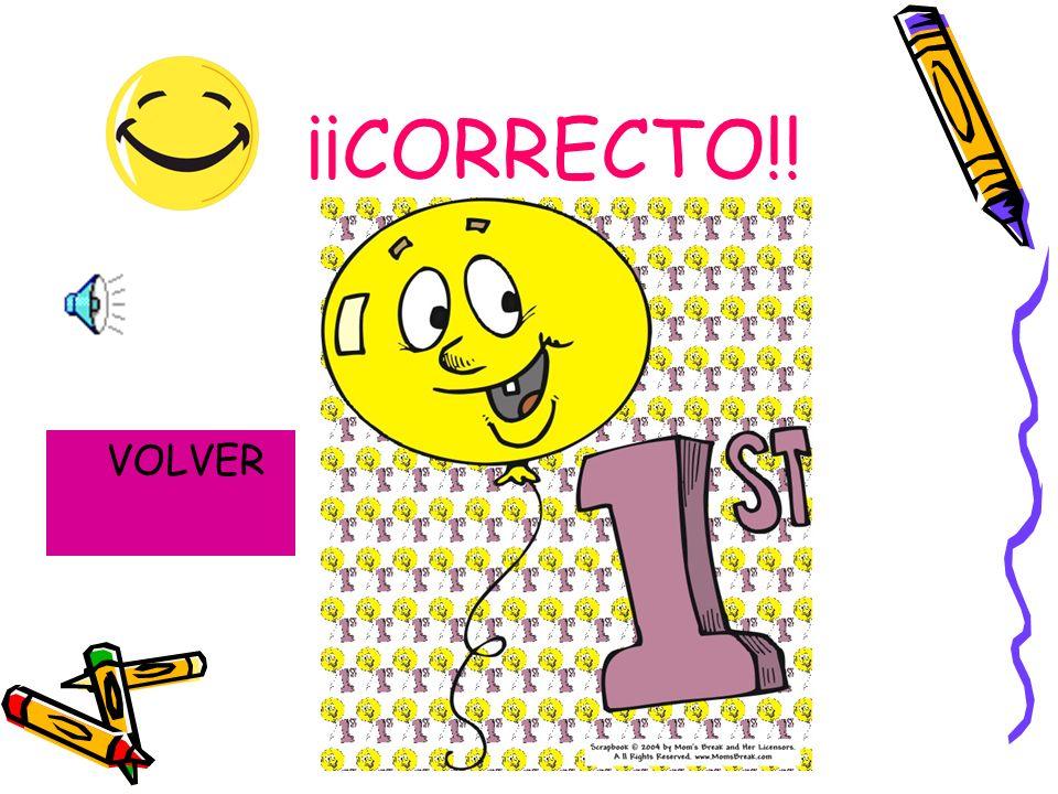 ¡¡CORRECTO!! VOLVER