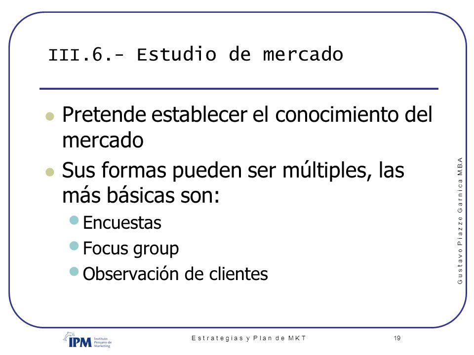 III.6.- Estudio de mercado