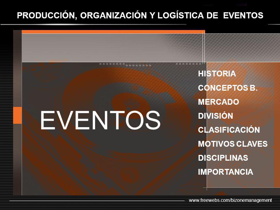 PRODUCCIÓN, ORGANIZACIÓN Y LOGÍSTICA DE EVENTOS