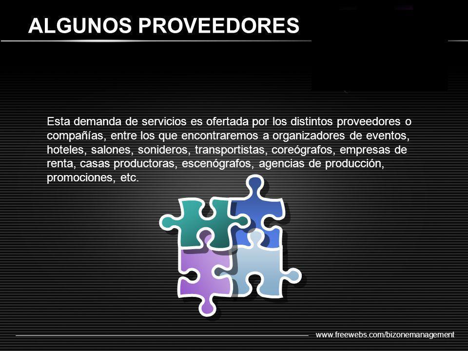 ALGUNOS PROVEEDORES