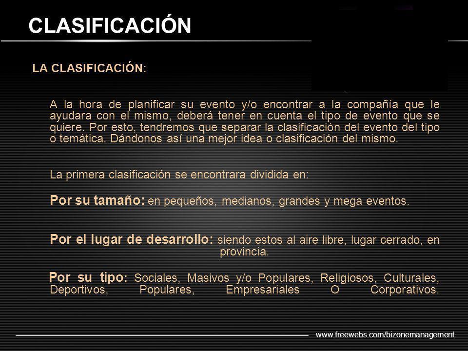 CLASIFICACIÓN LA CLASIFICACIÓN: