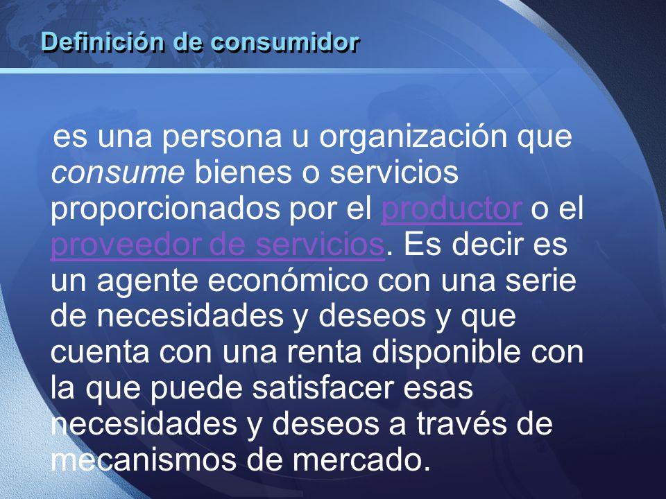 Definición de consumidor