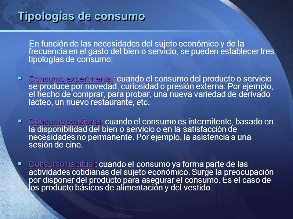 Tipologías de consumo
