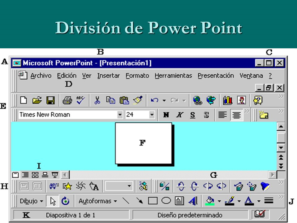 División de Power Point