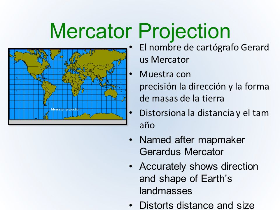 mercator projection The transverse mercator map projection is an adaptation of the standard mercator projection the transverse version is widely used in national and international mapping systems around the world, including the utm.
