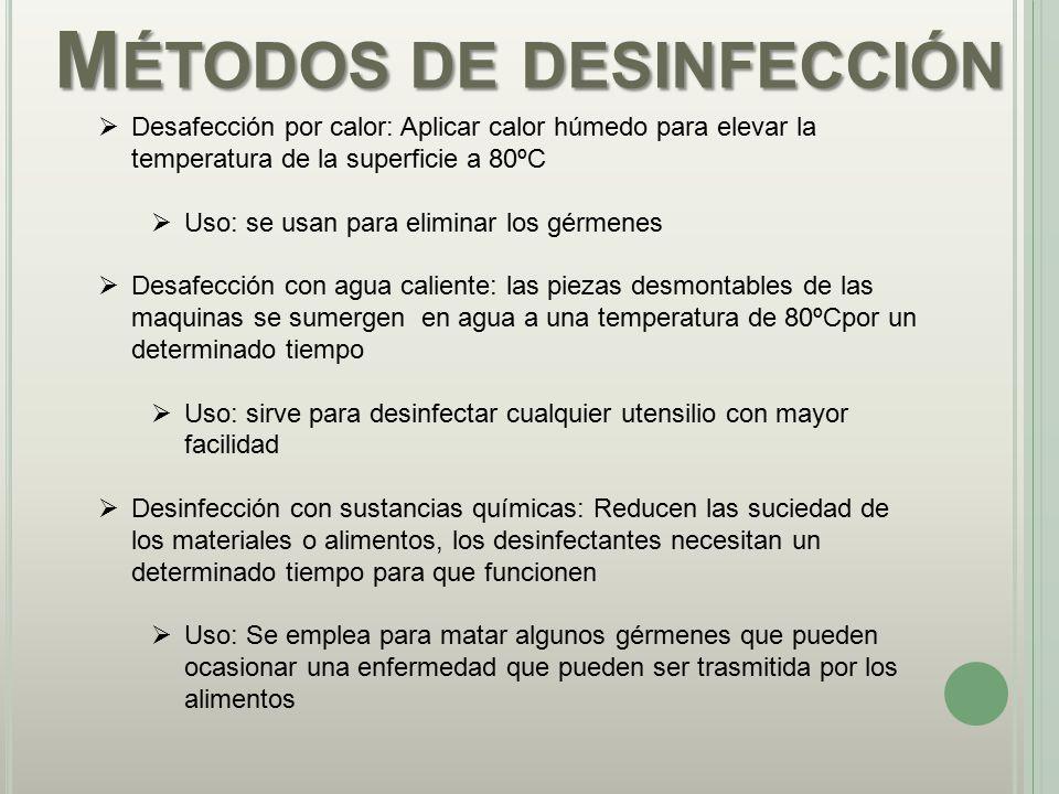 Métodos de desinfección