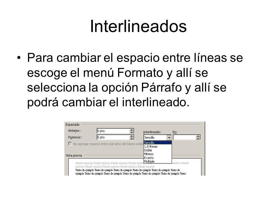 Interlineados