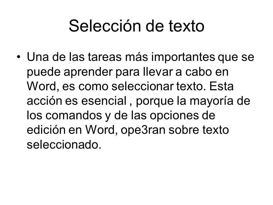 Selección de texto