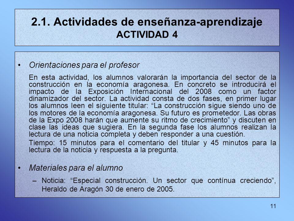 2.1. Actividades de enseñanza-aprendizaje ACTIVIDAD 4