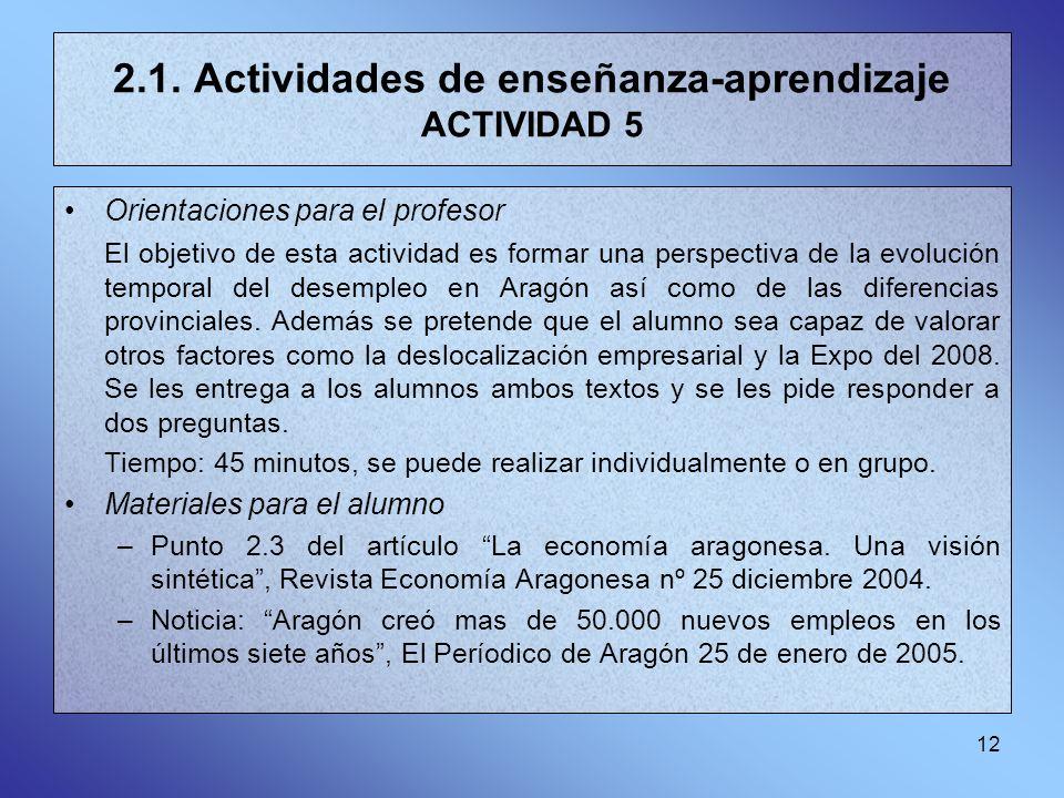 2.1. Actividades de enseñanza-aprendizaje ACTIVIDAD 5