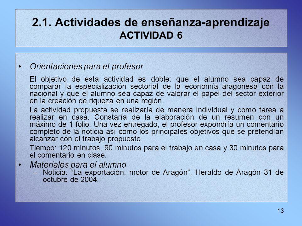 2.1. Actividades de enseñanza-aprendizaje ACTIVIDAD 6
