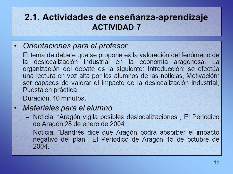 2.1. Actividades de enseñanza-aprendizaje ACTIVIDAD 7
