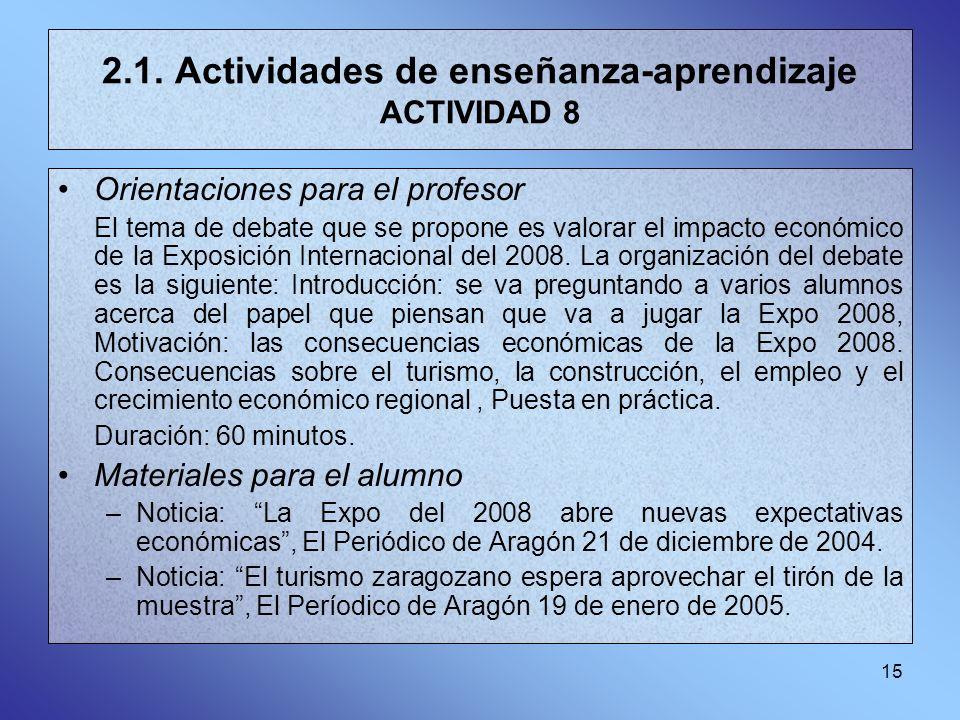 2.1. Actividades de enseñanza-aprendizaje ACTIVIDAD 8