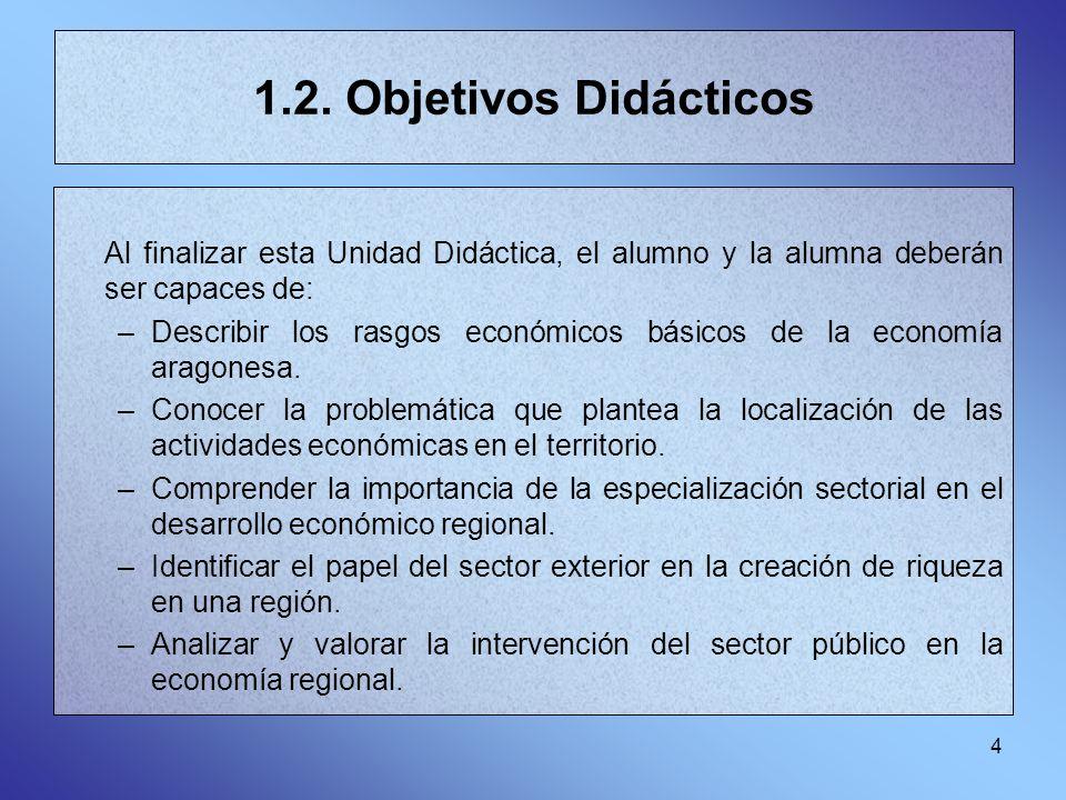 1.2. Objetivos Didácticos Al finalizar esta Unidad Didáctica, el alumno y la alumna deberán ser capaces de: