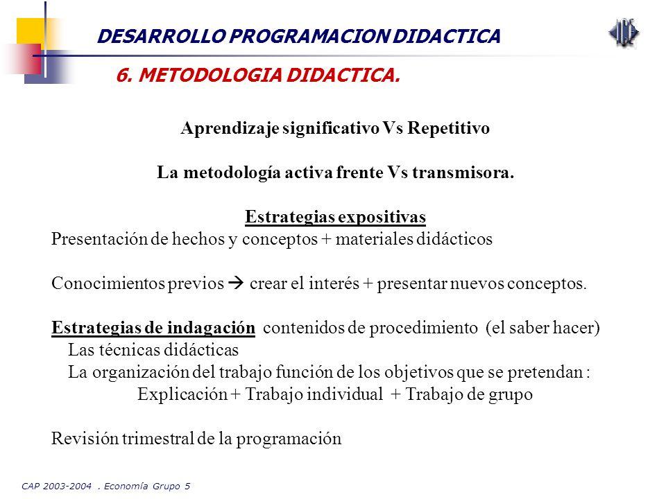DESARROLLO PROGRAMACION DIDACTICA