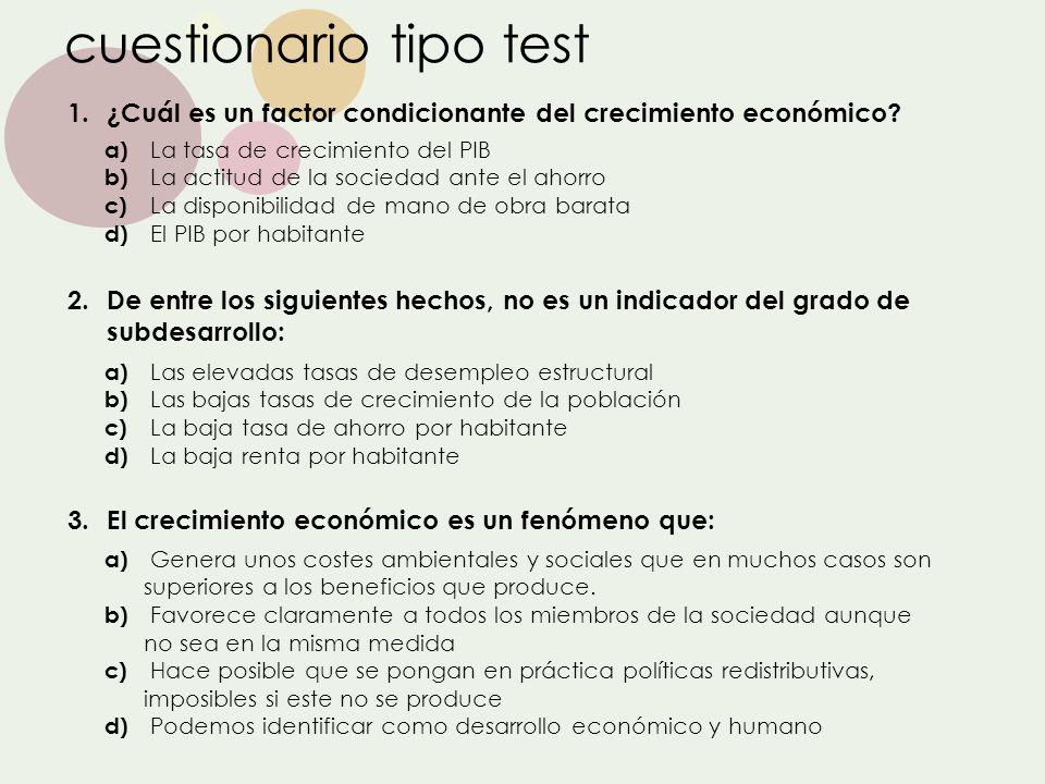 cuestionario tipo test
