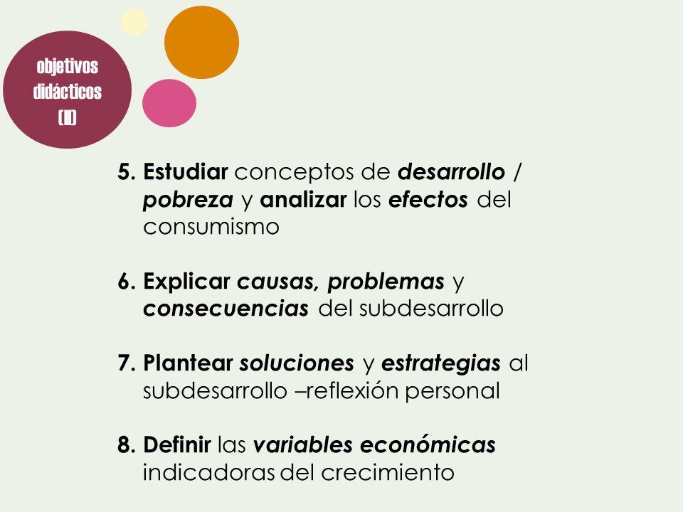 objetivos didácticos (II)
