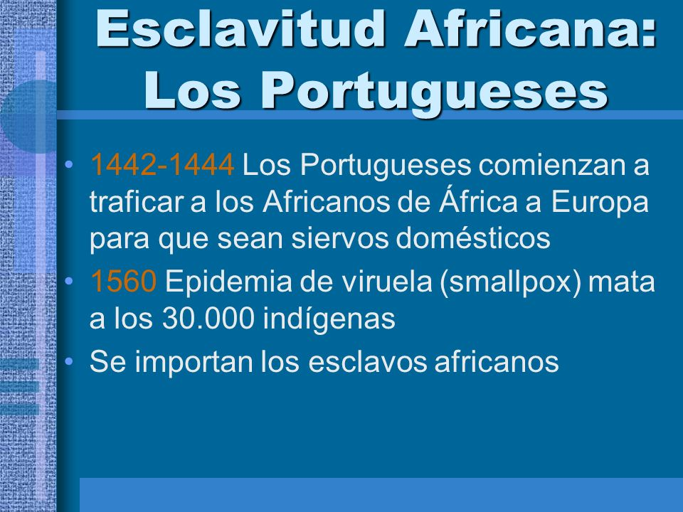 Esclavitud Africana: Los Portugueses