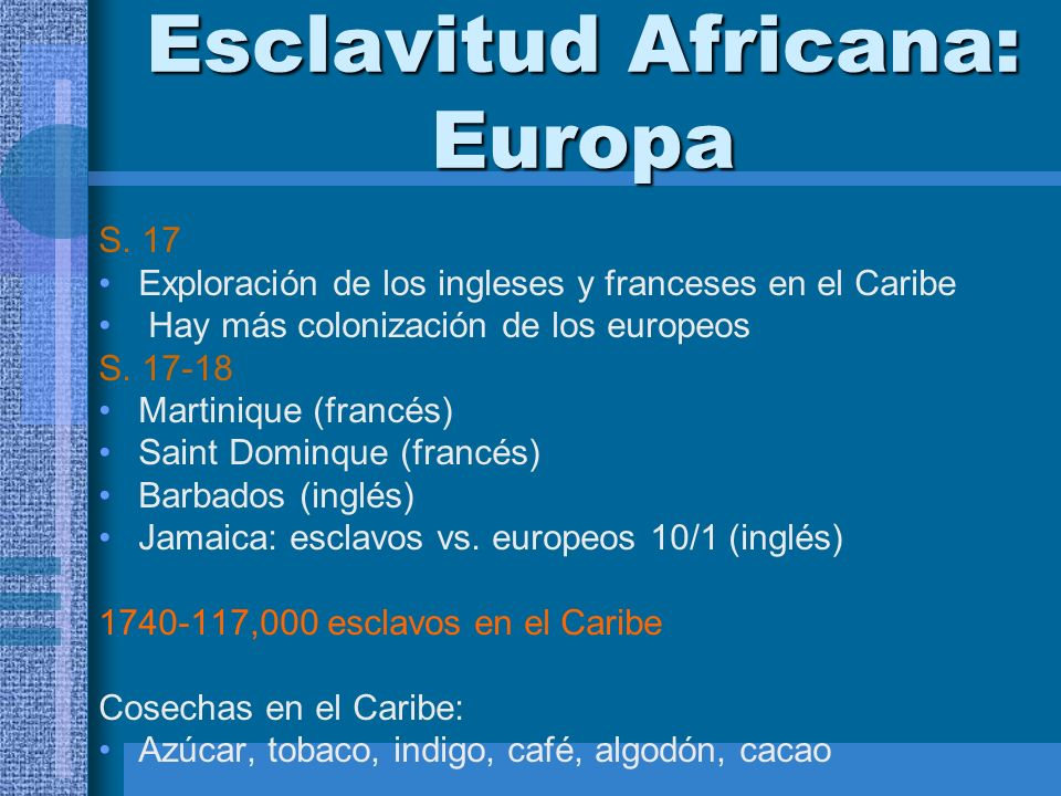 Esclavitud Africana: Europa