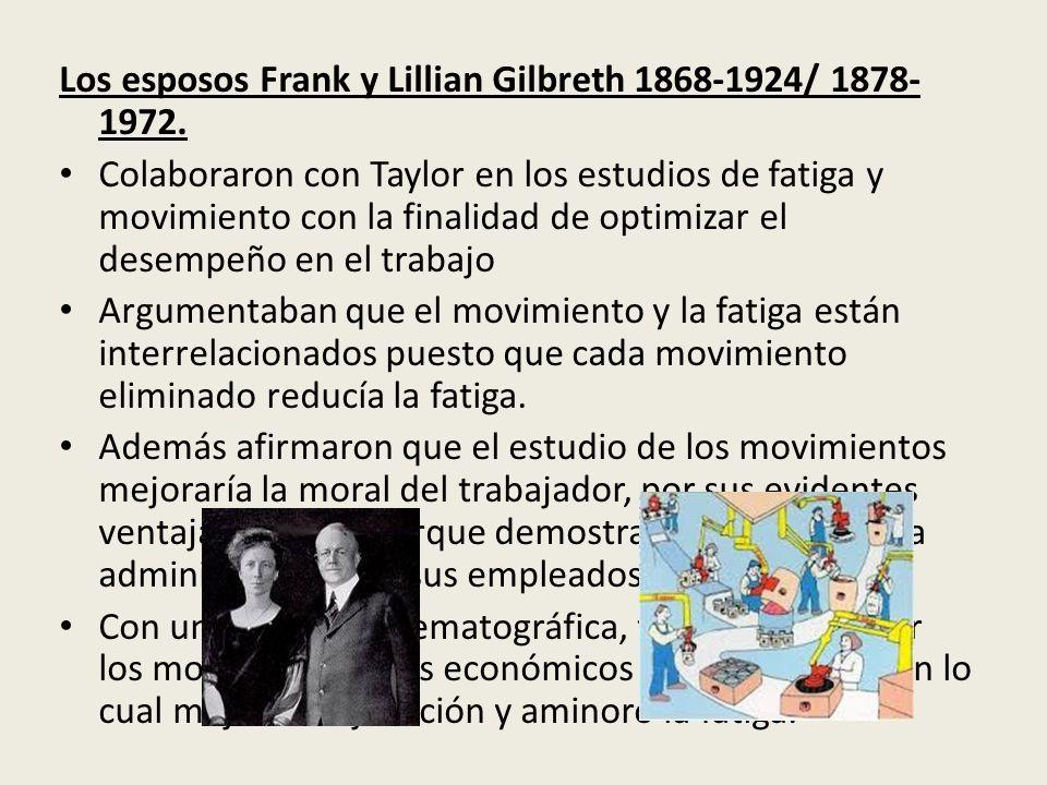 Los esposos Frank y Lillian Gilbreth 1868-1924/ 1878-1972.